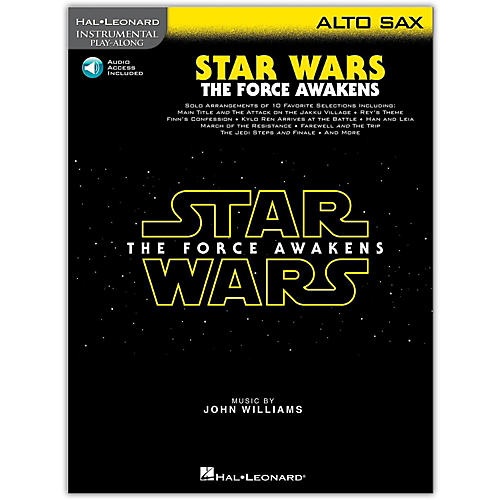 Hal Leonard Star Wars: The Force Awakens - Alto Sax Instrumental Play-Along,  Book with Online Audio-thumbnail