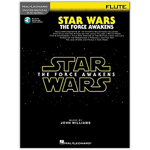 Hal Leonard Star Wars: The Force Awakens - Flute Instrumental Play-Along, ... by Hal Leonard
