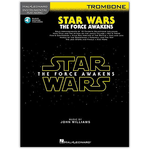 Hal Leonard Star Wars: The Force Awakens - Trombone Instrumental Play-Along,  Book with Online Audio-thumbnail