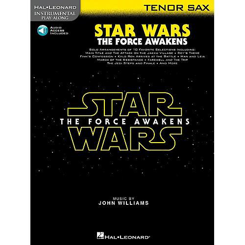 Hal Leonard Star Wars: The Force Awakens For Tenor Sax - Instrumental Play-Along Book/Online Audio-thumbnail