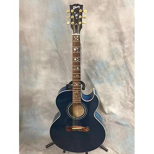 Gibson Starburst Acoustic Electric Guitar Blue Starburst