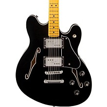 Starcaster Semi-Hollowbody Electric Guitar Black Maple Fingerboard
