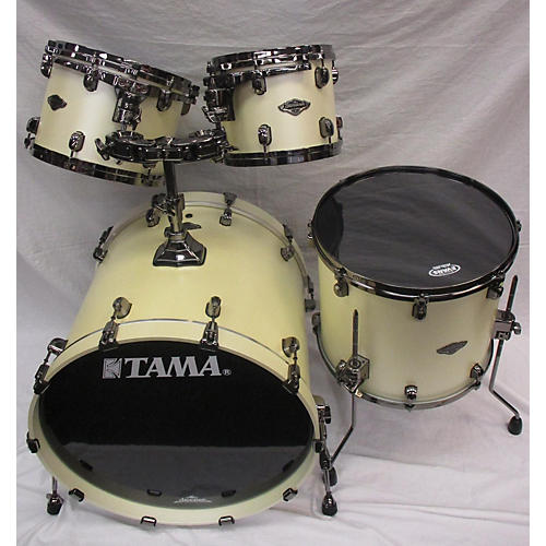 used starclassic b b drum kit satin pearl white guitar center. Black Bedroom Furniture Sets. Home Design Ideas