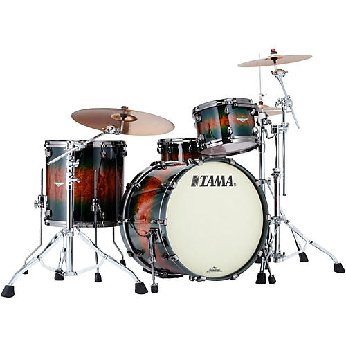 Tama Starclassic Bubinga Exotix 3-Piece Shell Kit with Black Nickel Shell Hardware-thumbnail