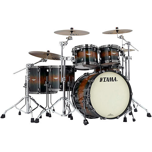 Tama Starclassic Bubinga Exotix 5-Piece Shell Pack with Black Nickel Hardware-thumbnail