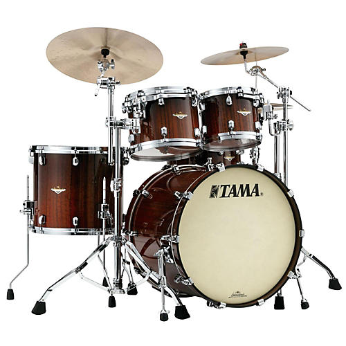 Tama Starclassic Bubinga Exotix Tigerwood 4-Piece Shell Pack with Smoked Black Nickel Hardware