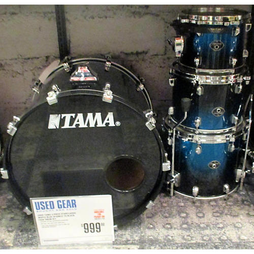 Tama Starclassic Maple Drum Kit Blue Sparkle to Black Fade