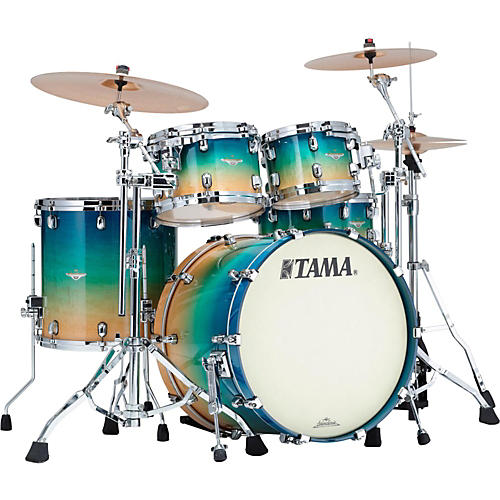 Tama Starclassic Maple Exotix 4-Piece Shell Kit with Chrome Shell Hardware-thumbnail