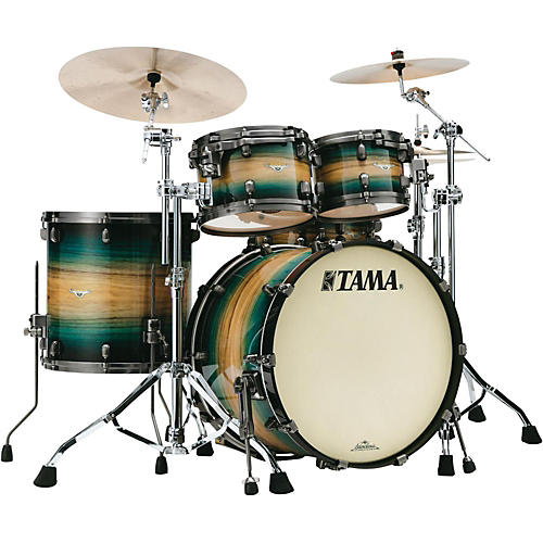 Tama Starclassic Maple Exotix Pacific Walnut 5-Piece Shell Pack with Smoked Black Nickel Hardware and 22 in. Bass Drum-thumbnail