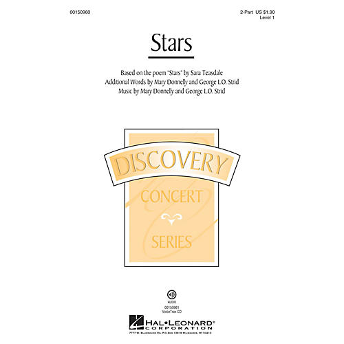 Hal Leonard Stars (Discovery Level 1) 2-Part composed by Mary Donnelly