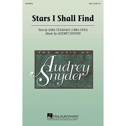Hal Leonard Stars I Shall Find SSA composed by Audrey Snyder