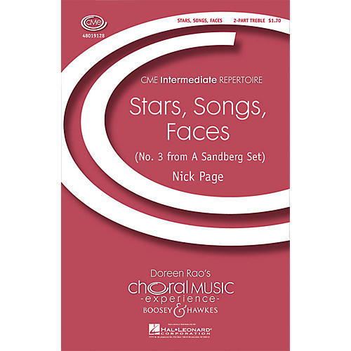 Boosey and Hawkes Stars, Songs, Faces (CME Intermediate) 2-Part composed by Nick Page