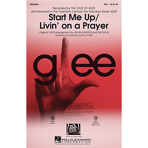 Hal Leonard Start Me Up/Livin' on a Prayer ShowTrax CD by Glee Cast Arranged by Adam Anders