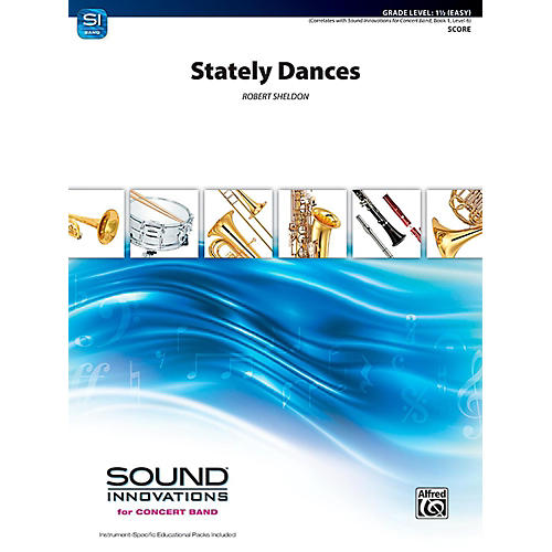 Alfred Stately Dances Concert Band Grade 1.5 (Easy)-thumbnail