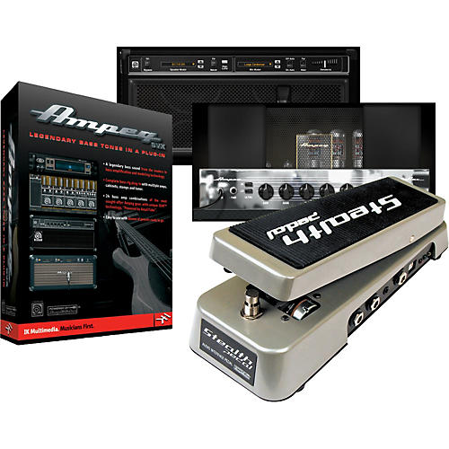 IK Multimedia StealthPedal Audio Controller/Interface + Ampeg SVX Plug-In Powered by Amplitube