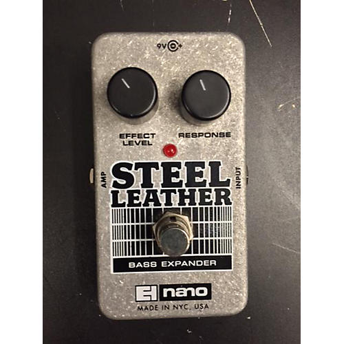 Electro-Harmonix Steel Leather Nano Bass Expander Bass Effect Pedal