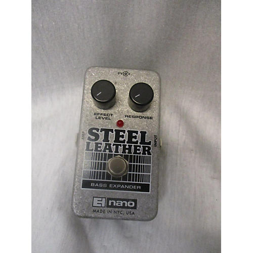 Electro-Harmonix Steel Leather Nano Bass Expander Bass Effect Pedal-thumbnail