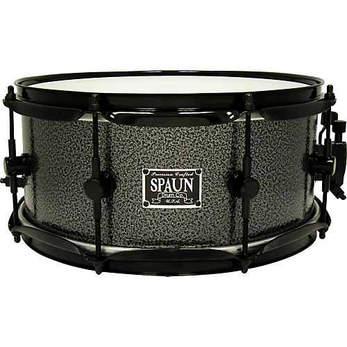 Spaun Steel Snare with Silver Vein and Black Hardware