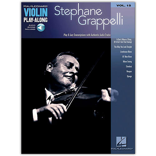 Hal Leonard Stephane Grappelli Violin Play-Along Volume 15 Book/Online Audio