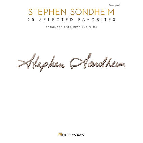 Hal Leonard Stephen Sondheim - 25 Selected Favorites for Piano/Vocal/Guitar-thumbnail