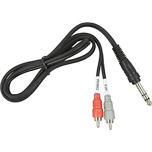 Hosa Stereo 1/4-Inch Male TRS to Dual Male RCA Insert Cable