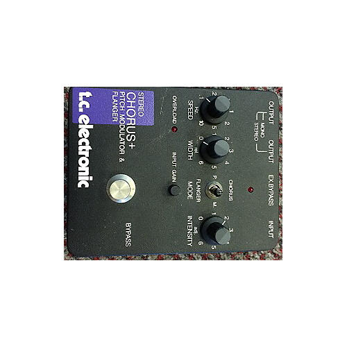 TC Electronic Stereo Chorus+ Pitch Modulator & Flanger Effect Pedal