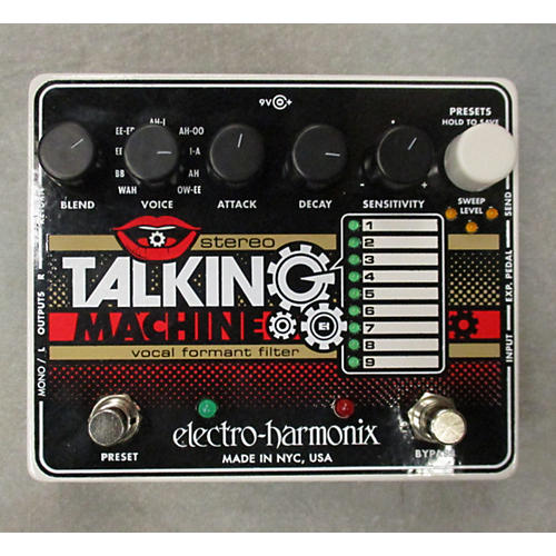 Electro-Harmonix Stereo Talking Machine Vocal Formant Filter Effect Pedal-thumbnail