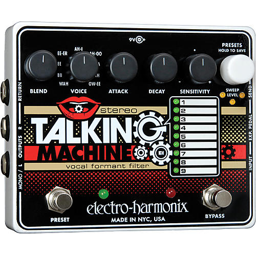 Electro-Harmonix Stereo Talking Machine Vocal Formant Filter Guitar Effects Pedal-thumbnail