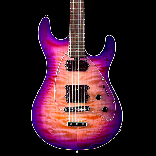 Ernie Ball Music Man Steve Morse Y2D Guitar with Standard Bridge Purple Sunset