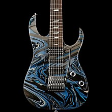 Ibanez Steve Vai Signature Passion & Warfare 25th Anniversary Limited Edition 7-String Electric Guitar Silver/Blue
