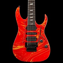 Ibanez Steve Vai Signature Passion & Warfare 25th Anniversary Limited Edition 7-String Electric Guitar Warfare Orange/Yellow