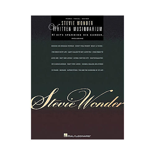 Hal Leonard Stevie Wonder - Written Musiquarium Book