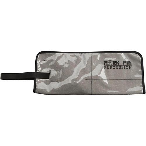 Pork Pie Stick Bag w/Silver Sparkle Lining Zebra