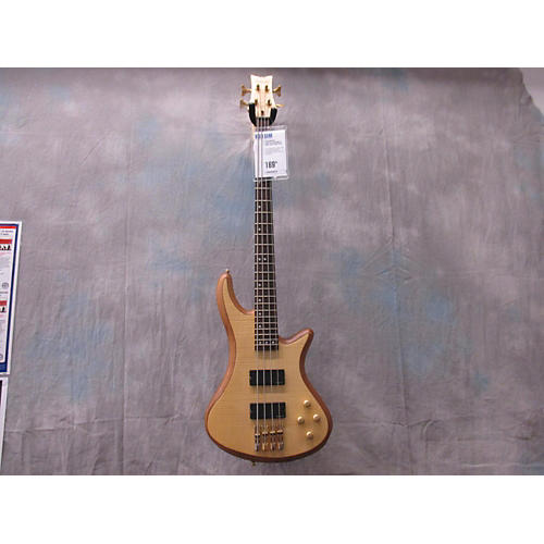 Schecter Guitar Research Stiletto Custom 4 String Natural Electric Bass Guitar
