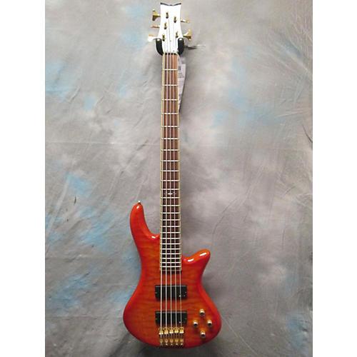 Schecter Guitar Research Stiletto Elite 5 String Electric Bass Guitar-thumbnail