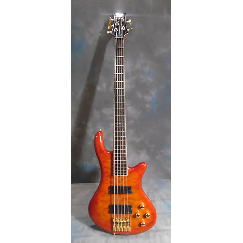 Schecter Guitar Research Stiletto Elite 5 String Electric Bass Guitar-thumbnail