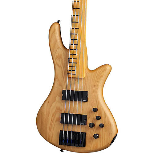 Schecter Guitar Research Stiletto Session-5 Fretless Electric Bass-thumbnail
