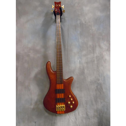 Schecter Guitar Research Stiletto Studio 4 String Fretless Satin Honey Electric Bass Guitar-thumbnail