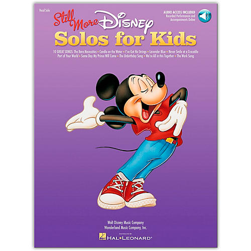 Hal Leonard Still More Disney Solos for Kids Book/CD Of Performances And Accompaniments