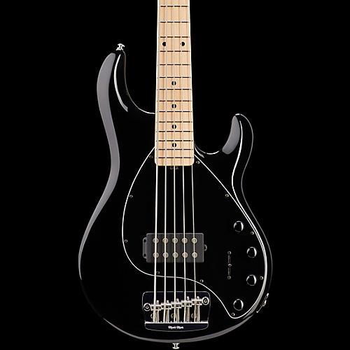 Ernie Ball Music Man StingRay 5 5-String Bass Guitar Black Maple Fretboard