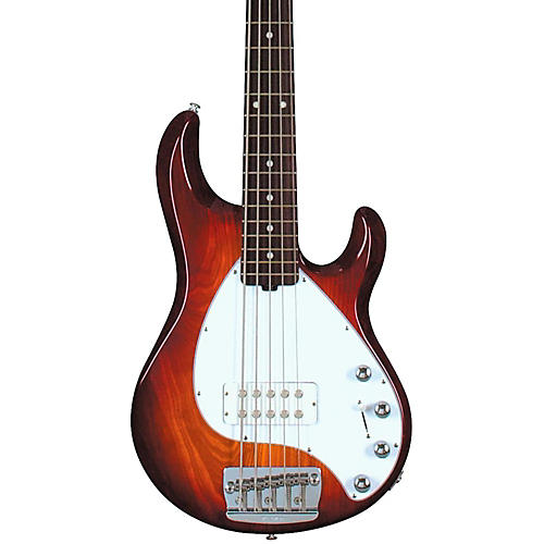 ernie ball music man stingray 5 5 string bass guitar honey sunburst rosewood fretboard guitar. Black Bedroom Furniture Sets. Home Design Ideas