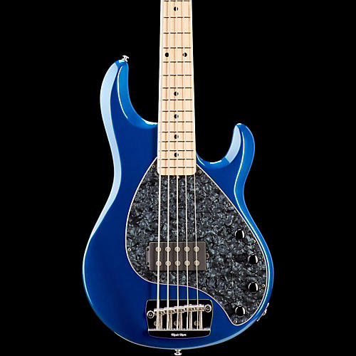 ernie ball music man stingray 5 5 string bass guitar pearl blue maple fretboard guitar center. Black Bedroom Furniture Sets. Home Design Ideas