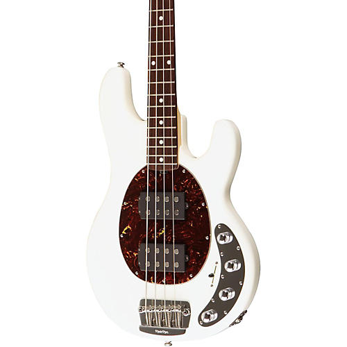 Ernie Ball Music Man StingRay Slo Special 4 String HH Electric Bass White Rosewood Fretboard