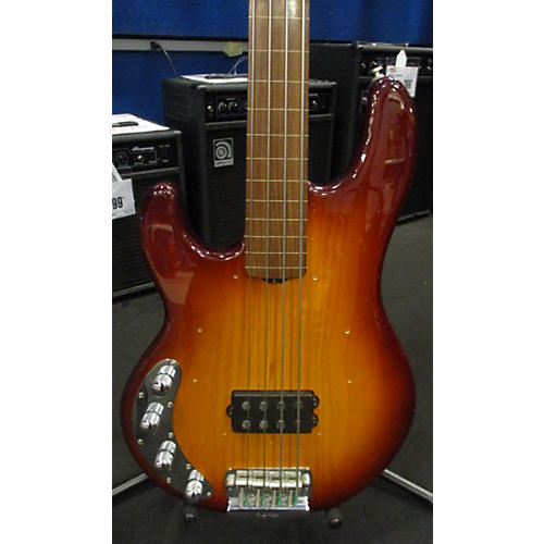 Ernie Ball Music Man Stingray 4 Fretless Left Handed Electric Bass Guitar