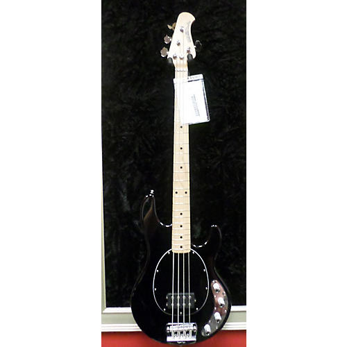 used ernie ball music man stingray 4 string electric bass guitar black and silver guitar center. Black Bedroom Furniture Sets. Home Design Ideas