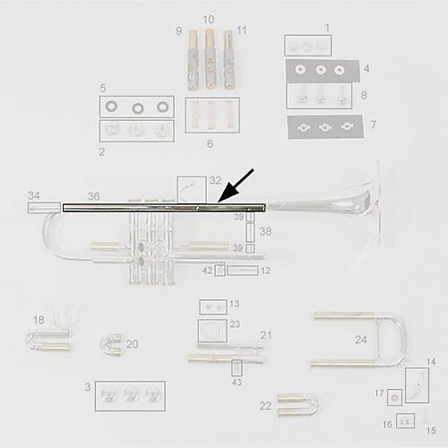 Bach Stradivarius Bb Trumpet Replacement Leadpipe-thumbnail
