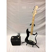 Used Starcaster Strat Black Electric Guitar Pack