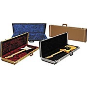 Strat/Tele Hardshell Case Gold Tweed Red Plush Interior