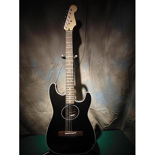 Fender Stratacoustic Black Acoustic Electric Guitar-thumbnail