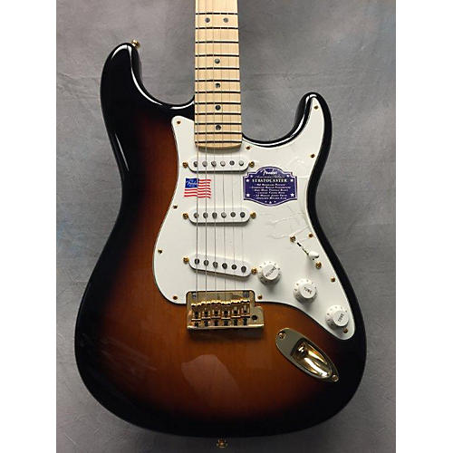 Fender Stratocaster 60th American Deluxe Solid Body Electric Guitar-thumbnail